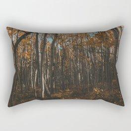 Colorado Aspen Grove Photograph Rectangular Pillow