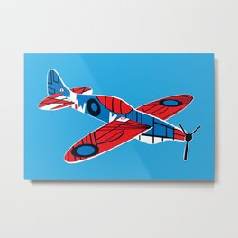 Styrofoam airplane Metal Print