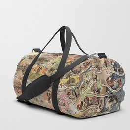 History of America Pictorial State map of Historical Events landscape painting by Aaron Bohrod Duffle Bag