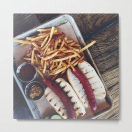 Hot Dog &  Fries Metal Print