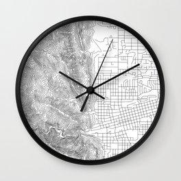 Boulder, Colorado Topo Map Wall Clock