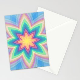 Rainbow Flower Stationery Cards