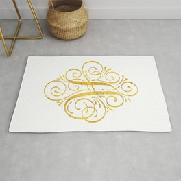 Monogram A Golden Calligraphy Rug