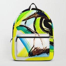 Modern Eye Watercolor in Yellow, Green and Aqua Backpack