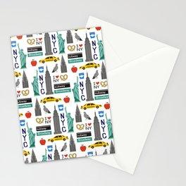 NYC travel pattern fun kids decor boys and girls nursery new york city theme Stationery Cards