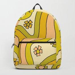 groovy rainbow flower power wallpaper vibes Backpack