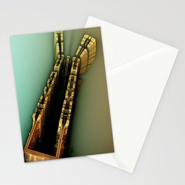 middle ground fractal Stationery Cards