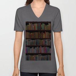 Vintage books ft Jane Austen & more Unisex V-Ausschnitt