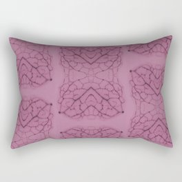 Arabidopsis thaliana (thale cress) leaf vein pattern magenta Rectangular Pillow