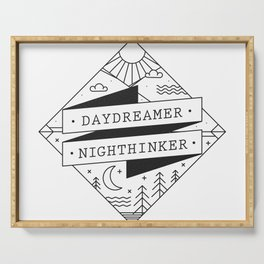 daydreamer nighthinker II Serving Tray