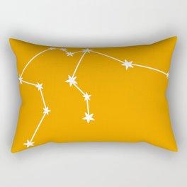 Aquarius (White & Orange Sign) Rectangular Pillow