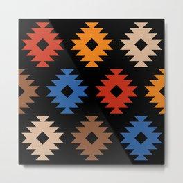 Colorful Southwestern Pattern 538 Metal Print