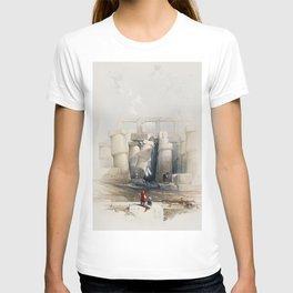 Part of the hall of columns at Karnak Thebes  by David Roberts (1796-1864) T-shirt