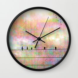 The Quickening, Abstract Sky and Birds Wall Clock