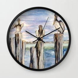 Water Cooler #pelicans #Florida  Wall Clock