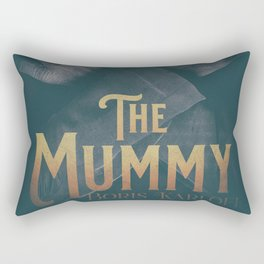 The Mummy, Boris Karloff, 1932 cult horror movie poster, vintage affiche Rectangular Pillow