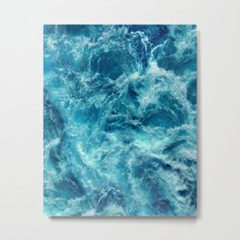 Ocean is shaking Metal Print