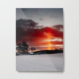The Sun Pillar Metal Print