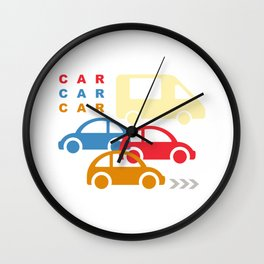 Cars and Arrows Wall Clock