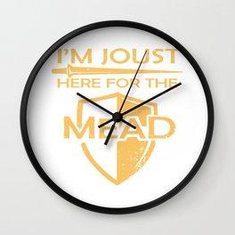 Womens Mead Gift Print Renaissance Fair Mead Gift Print Print Wall Clock