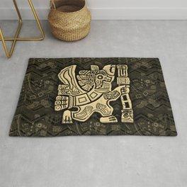 Aztec Eagle Warrior Rug