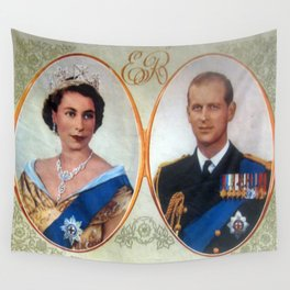 Queen Elizabeth 11 & Prince Philip in 1952 Wall Tapestry