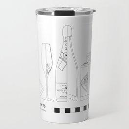 French 75 - Archaeological Drawing Travel Mug