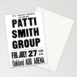 The Patti Smith Group Concert Poster 1979 Stationery Cards