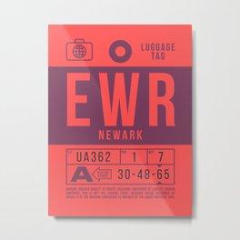 Baggage Tag B - EWR Newark Liberty USA Metal Print