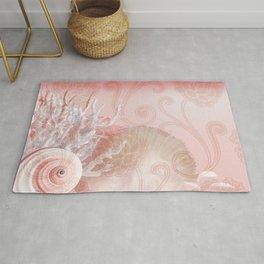 SEASHELL DREAMS   pink Rug