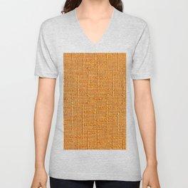 Heritage - Hand Woven Cloth Yellow Unisex V-Neck