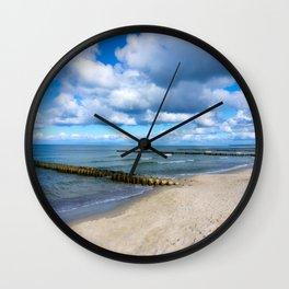 Beach walk - Holiday feeling Wall Clock