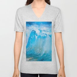 Sea And Ocean Waves 13 Unisex V-Neck