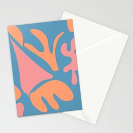 Nature shapes blue background Stationery Cards