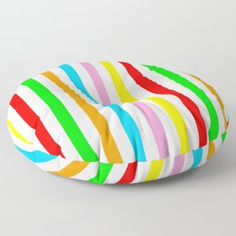 multicolor columns-mutlicolor,abstraction,abstract,fun,line,geometric,geometrical,columns, Floor Pillow