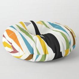 Mid-Century Modern Art Cat 2 Floor Pillow