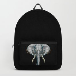 Vintage Elephant with Pierced Ears & Spectacles Backpack