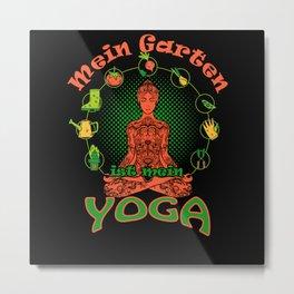 Gardener Gift Idea Garden Designs Metal Print