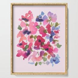 Monet's Rose Garden Serving Tray
