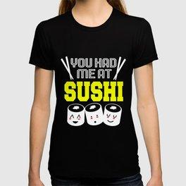 Sushi Roll Kawaii Funny Maki Japanese Food T-shirt