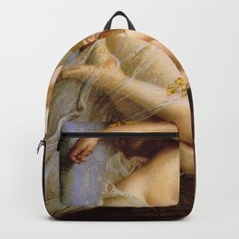 Guillaume Seignac's Young Naked Woman on a Settee Backpack