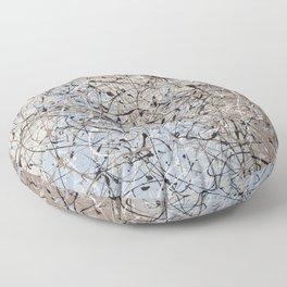 High Again - Jackson Pollock style abstract drip painting by Rasko Floor Pillow