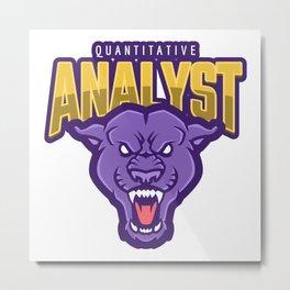 Powerful Quantitative Analyst Metal Print