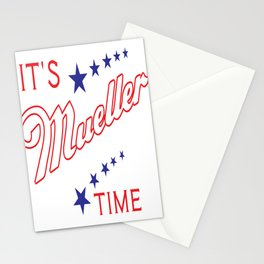 It's Mueller Time Funny Robert Mueller Trump Impeachment Investigation Design Stationery Cards
