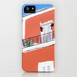 Colorful building facade in Ischia island Italy  iPhone Case