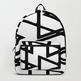 Interlocking Black Triangles Artistic Design Backpack