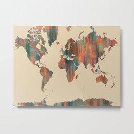 World Map - Navaho Metal Print