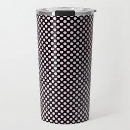 Black and Ballet Slipper Polka Dots Travel Mug