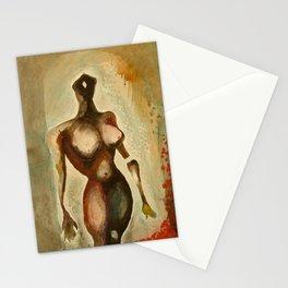 Eves 1, Nude surrealist female figure, NYC Artist Stationery Cards