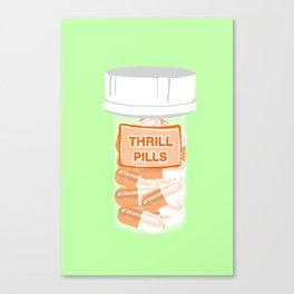 Thrill Pill Bottle Mint Canvas Print